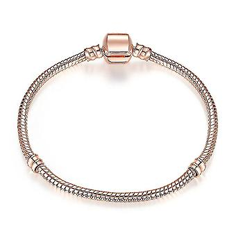 Placat cu aur roz 3mm bratara cu lant de sarpe se potrivesc bratari femei bijuterii #14096