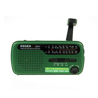Flashlight FM Sun Alarm Clock Radio Can Power Your Phone, Call For Help Suitable In An Emergency
