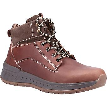 Hush Puppies Hombre Dave Leather Lace Up Botines