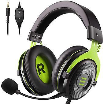 EKSA E900 Gaming Headset, PS4 Headset Microphone Gaming PC Headset Wired Audio Headset avec prise jack 3.5MM (vert)
