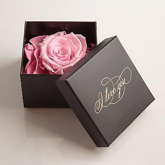 Jag älskar dig Gåva 1 Eternal Rose Rosa