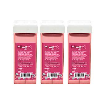 Hive Of Beauty 3 For 2 100g Sensitive Roller Wax Cartridge With Fixed Large Head