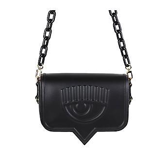 Chiara Ferragni Eyelike Black Large Crossbody Bag