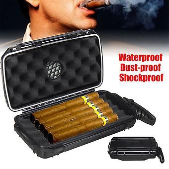 Draagbare sigaar plastic reizen humidor geval waterdichte stofdichte schokbestendige 5 full-sized sigaren harde shell geval