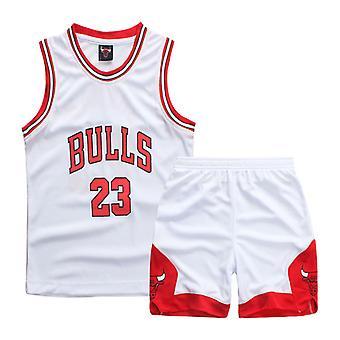 Chicago Bulls #23 Michael Jordan Jersey No.23/uniforme de basquete infantil Set Kids/white