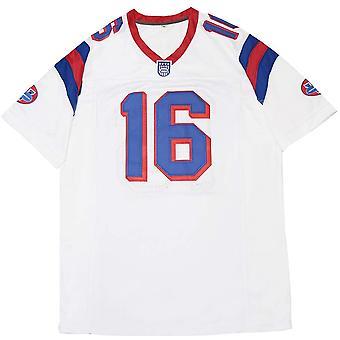 Hombre #16 Shane Falco Los reemplazos movie fútbol jersey cosido blanco