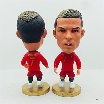 Soccerwe 6.5cm Høyde FotballStjerne Dukke Portugal 7 # C. Ronaldo Tall Rød 2020