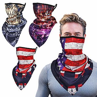 Neck Gaiters Face Mask, Stylish Face Bandanas With Ear Loops For Man Outdoor, 3pcs