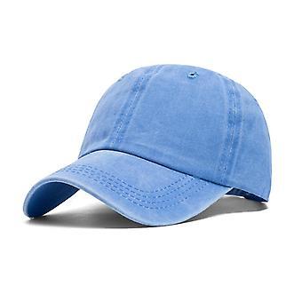 Hela säsongen Tvätta Denim Hat Old Baseball Cap Women S Utomhus