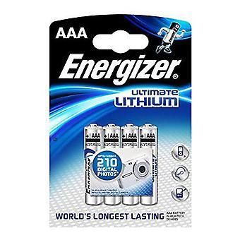 Batterie Energizer Ultimate Lithium Batterry AAA - confezione da 4 (L91)