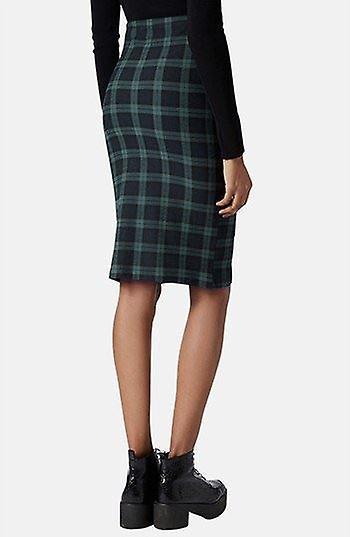 Black Watch Green Tartan Tube Skirt SK198-6
