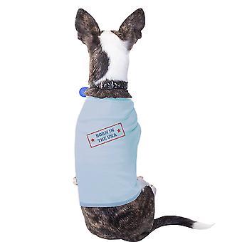 Nascido em o EUA céu azul Pets camisa algodão bandeira americana cão Tshirt
