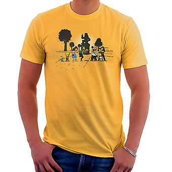 Yellow Fever the Simpsons Walking Dead Men's T-Shirt