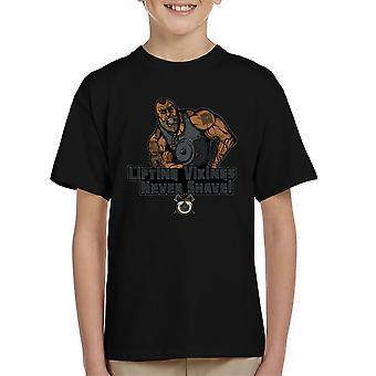 Liftin Vikingen scheren nooit Kid's T-Shirt