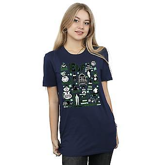Elf Women's Infographic Poster Boyfriend Fit T-Shirt