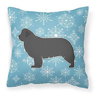 Winter Snowflake Newfoundland Fabric Decorative Pillow