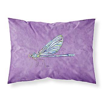 Libelle auf lila feuchtigkeitsableitende Stoff standard Kissenbezug