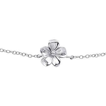 Flor - pulseiras de corrente prata esterlina 925 - W26277x