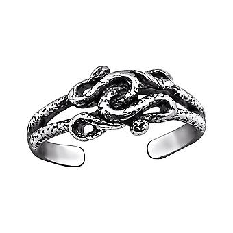Snake - 925 Sterling Silver Toe Rings - W29402x