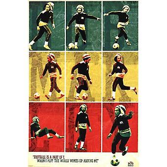 Bob Marley - fotball fotball Collage plakat plakatutskrift