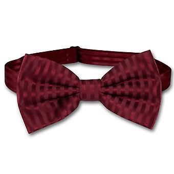 Vesuvio Napoli BOWTie Striped Vertical Stripes Men's Bow Tie