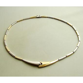 Used dual-color gold necklace
