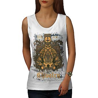 Chivalry Knight Women WhiteTank Top | Wellcoda