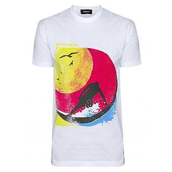DSQUARED2 DSQUARED2 surfista bianco t-shirt