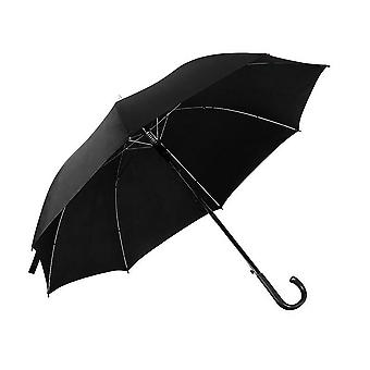 Mens Plain Walking Umbrella With PVC Handle