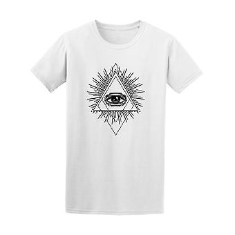 Tee All Seeing Eye Triangle hommes - Image de Shutterstock