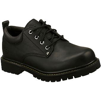 Skechers Mens Tom Cats Lace Up Padded Thick Leather Dress Creeper Oxford Shoes