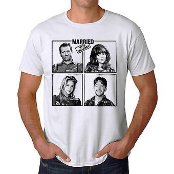 Married With Children Cast Bundys Men's White T-shirt