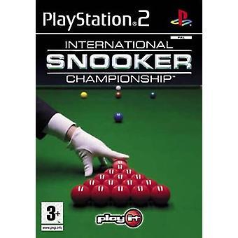 Kansainvälinen snookermestaruus (PS2) - uutena