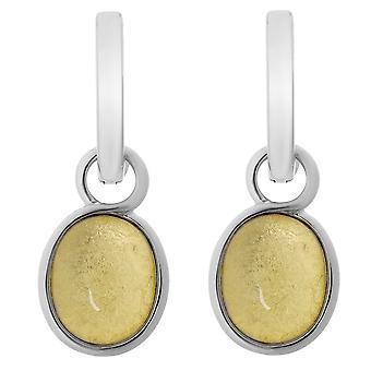 Orphelia Silver 925 Earring ovaal goud blad ZO-6040/2