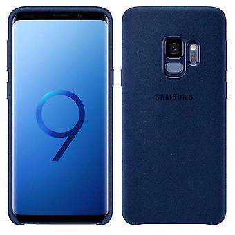 Samsung Alcantara Cover EF-XG960ALEGWW für Galaxy S9 G960F Tasche Hülle Case Blau