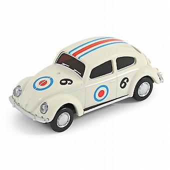 Official Classic VW Beetle Car USB Memory Stick 8Gb - White Racing Car