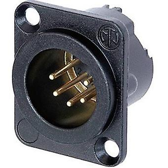 Neutrik NC5MD-LX-B XLR connector Sleeve plug, straight pins Number of pins: 5 Black 1 pc(s)