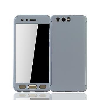 Huawei honor 9 teléfono móvil shell protección caja de cubierta completa de protección vidrio gris el tanque