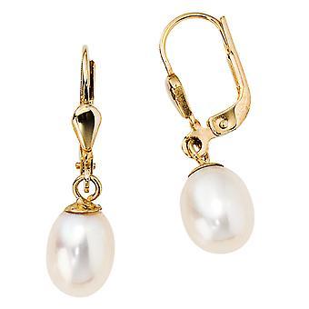 研究 585/-g-ゴールド パール ピアス 14 k ゴールド パール イヤリング真珠