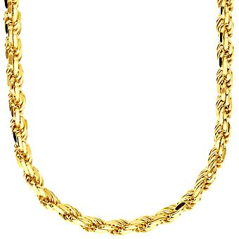 Sterling 925 Silver Halsband - rep DC 5,6 mm guld