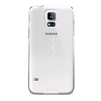 Witte diamanten Swarovski Elements Trinity Case voor Samsung Galaxy S5-transparante Crystal