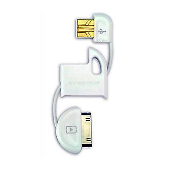 Scosche flipSYNC Keychain Charge and Sync Cable for iPod & iPhone (White)