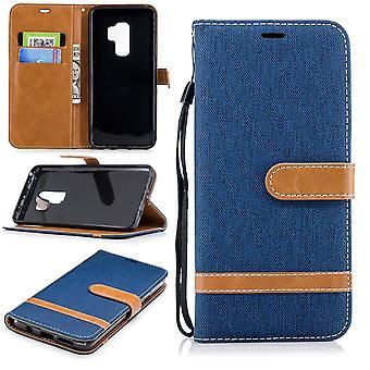 Samsung Galaxy S9 + plus telefon komórkowy ochronny pokrowiec pokrywy obudowy niebieski posiadacza karty