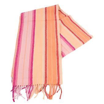 Bassin e marrone Harvey striscia sciarpa di cachemire - arancio/rosa