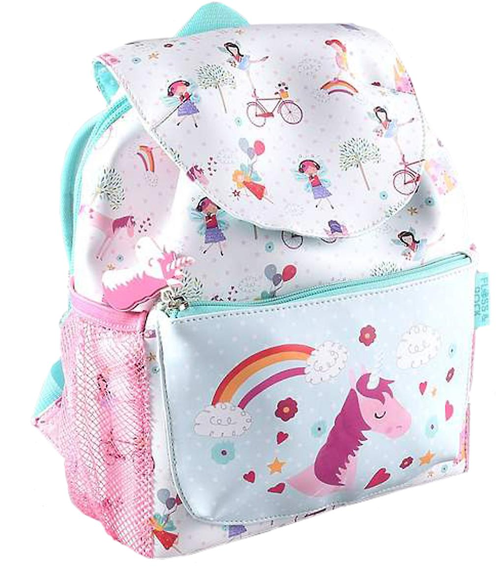Girls Unicorn and Fairies PVC backpack