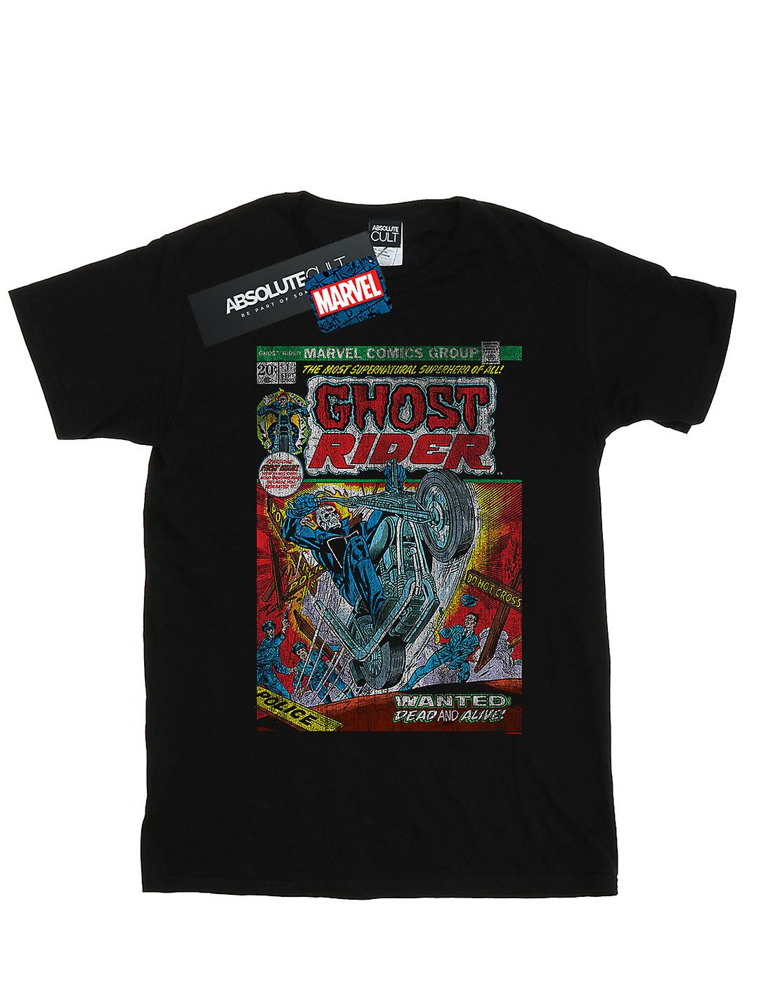 Marvel Women's Ghost Rider Distressed Comic Cover Boyfriend Fit T-Shirt