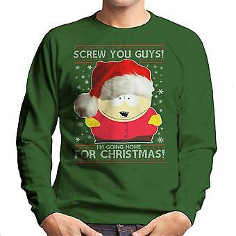 South Park Cartman Śruba Ci faceci Boże Narodzenie dzianiny wzór męska Bluza