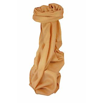 Fine Cashmere Scarf Karakoram Birds-Eye Weave Peach  by Pashmina & Silk