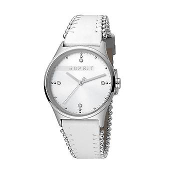 Esprit Damen Uhr 01 weiß Silber Verkauf Preis Original Designer Briefkasten