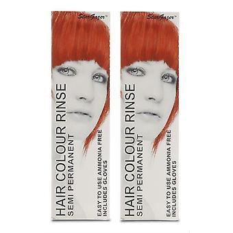 Stargazer puolipysyvät hiusten väri värjäykseen x 2 pakkauksissa kuuma punainen